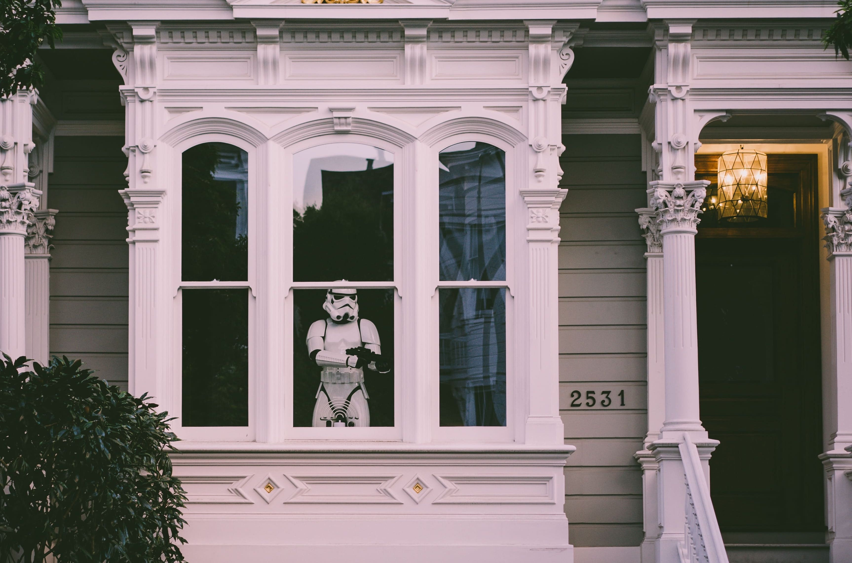 storm trooper standing guard