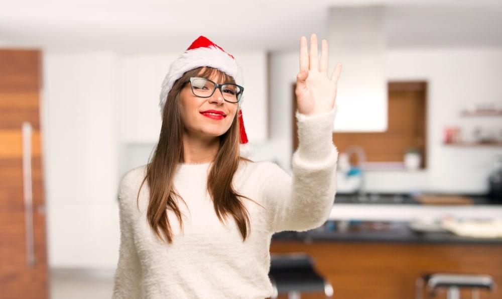 girl waving goodbye