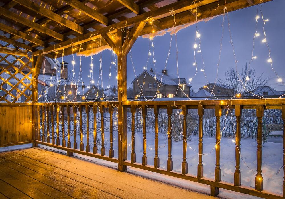 balcony christmas lights