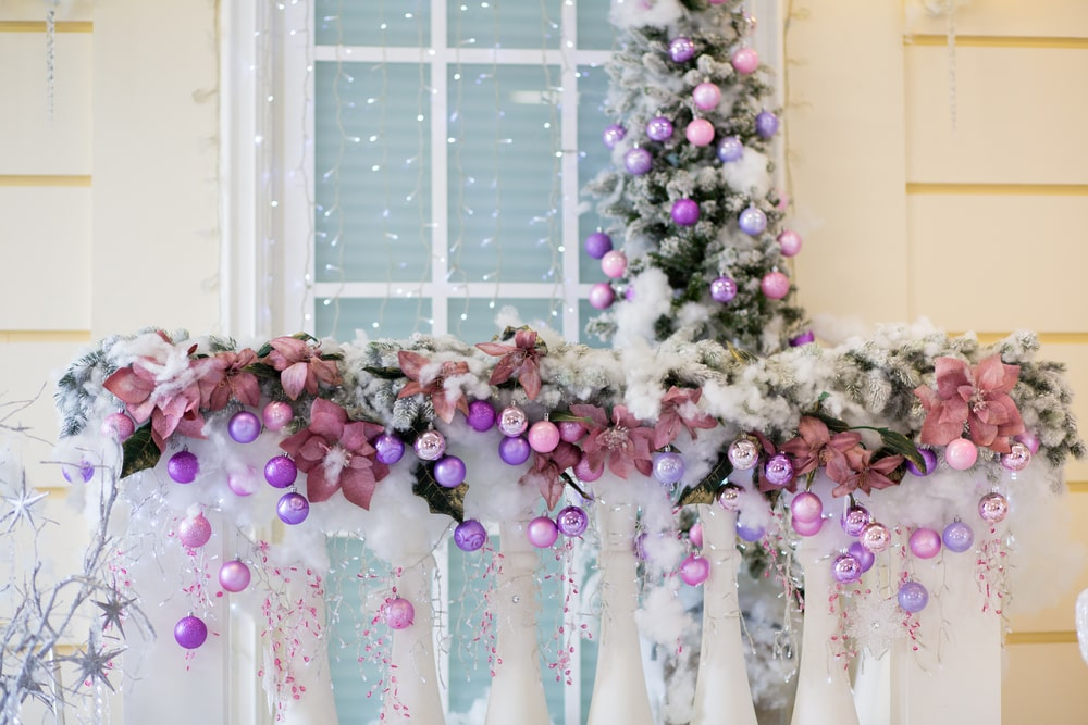 hanging ornaments on balcony