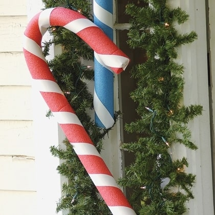 pool noodle candy cane