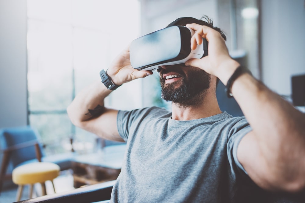 guy wearing a VR headset