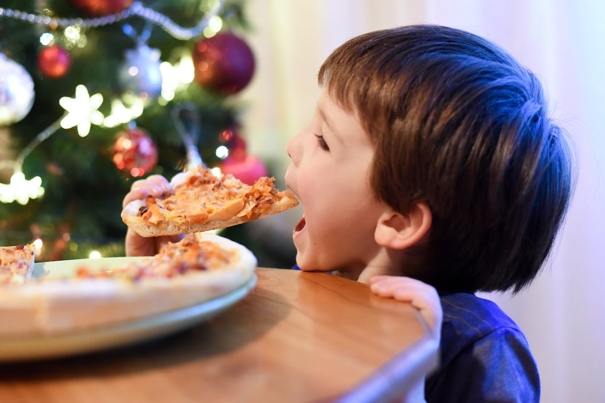 christmas pizza party