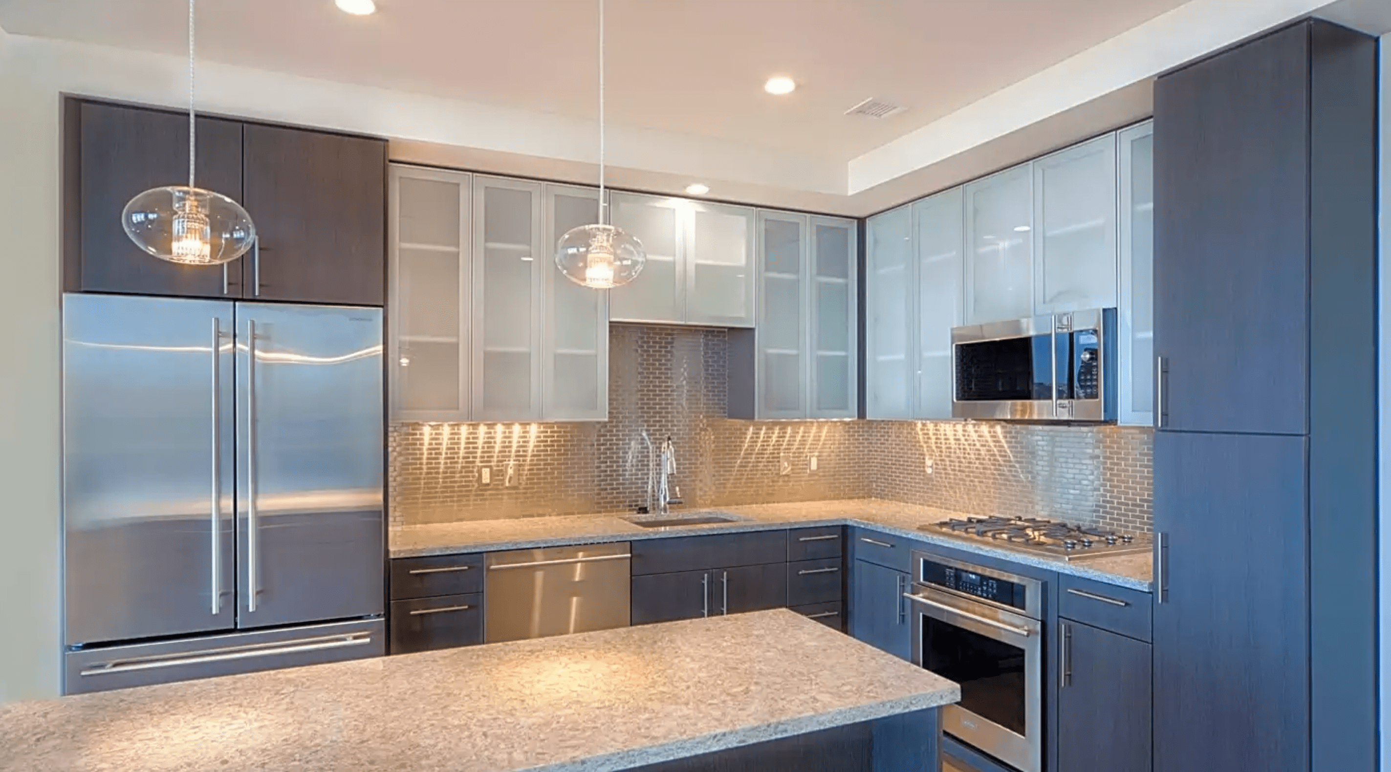 Kitchen at Penthouse at One Canal Apartment Homes