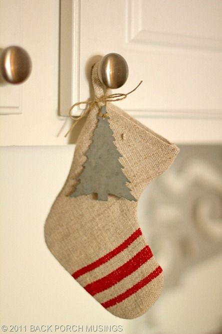 stockings hung by knobs