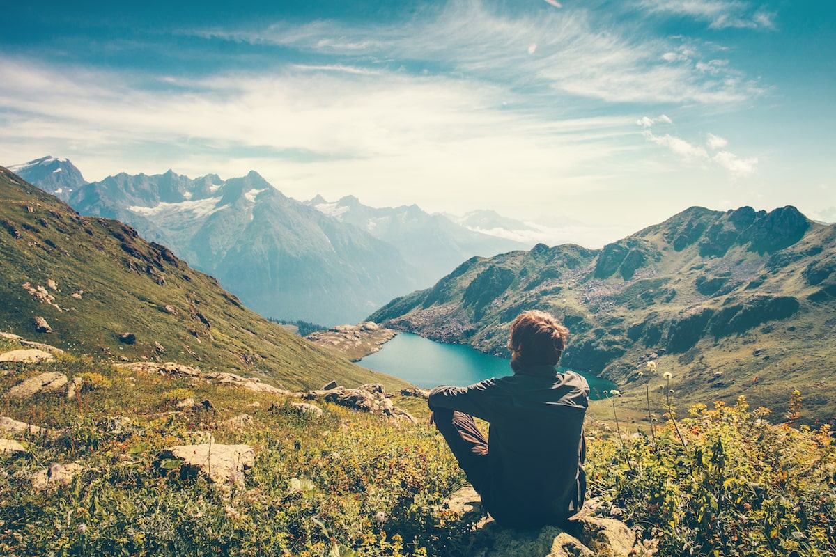 person enjoying nature