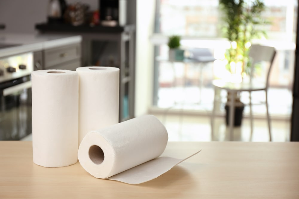 paper towels in kitchen