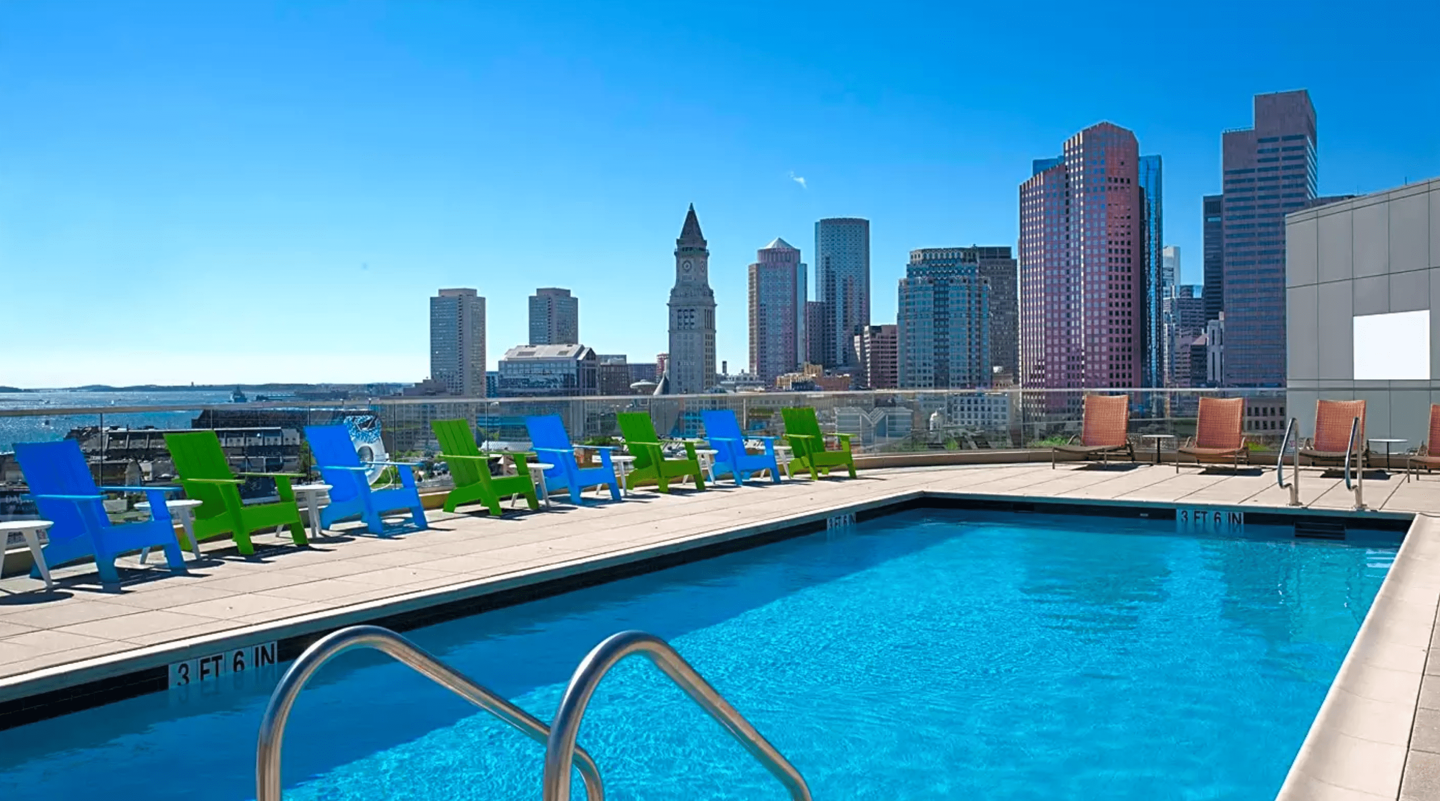 Rooftop pool at One Canal Apartment Homes