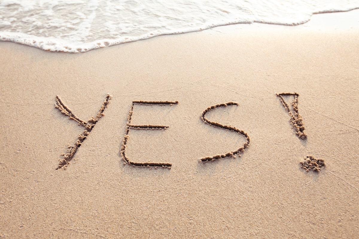 yes on a beach
