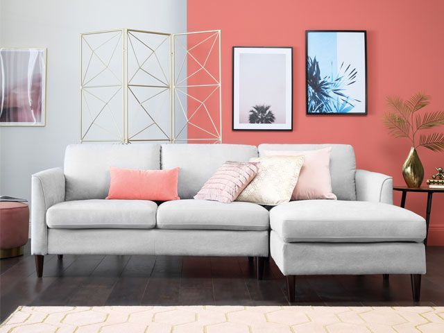 living coral accent wall