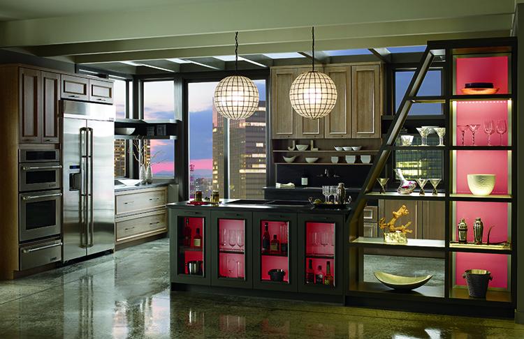 living coral cabinet interior