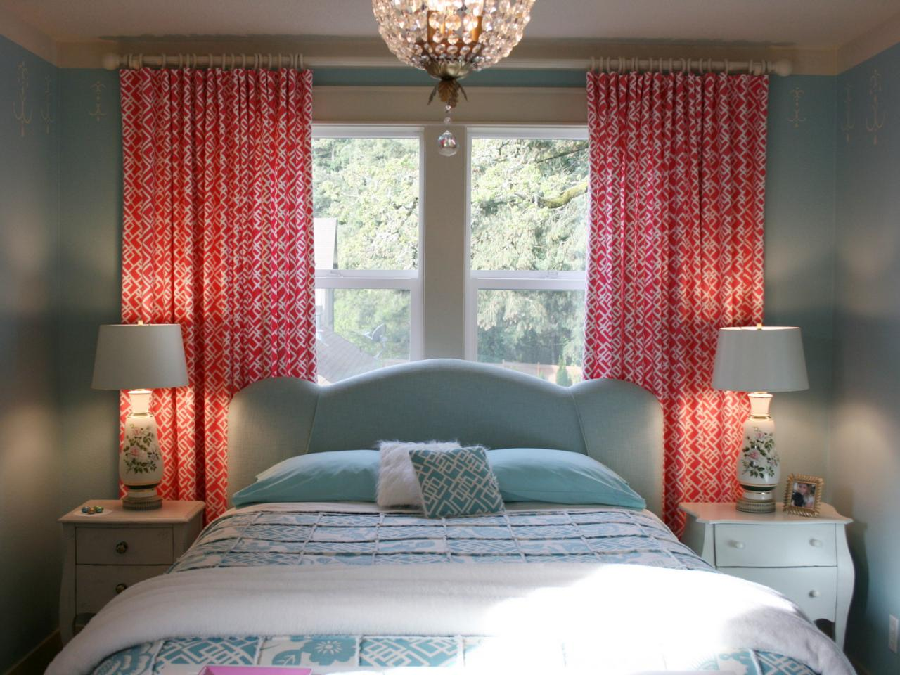 living coral curtains