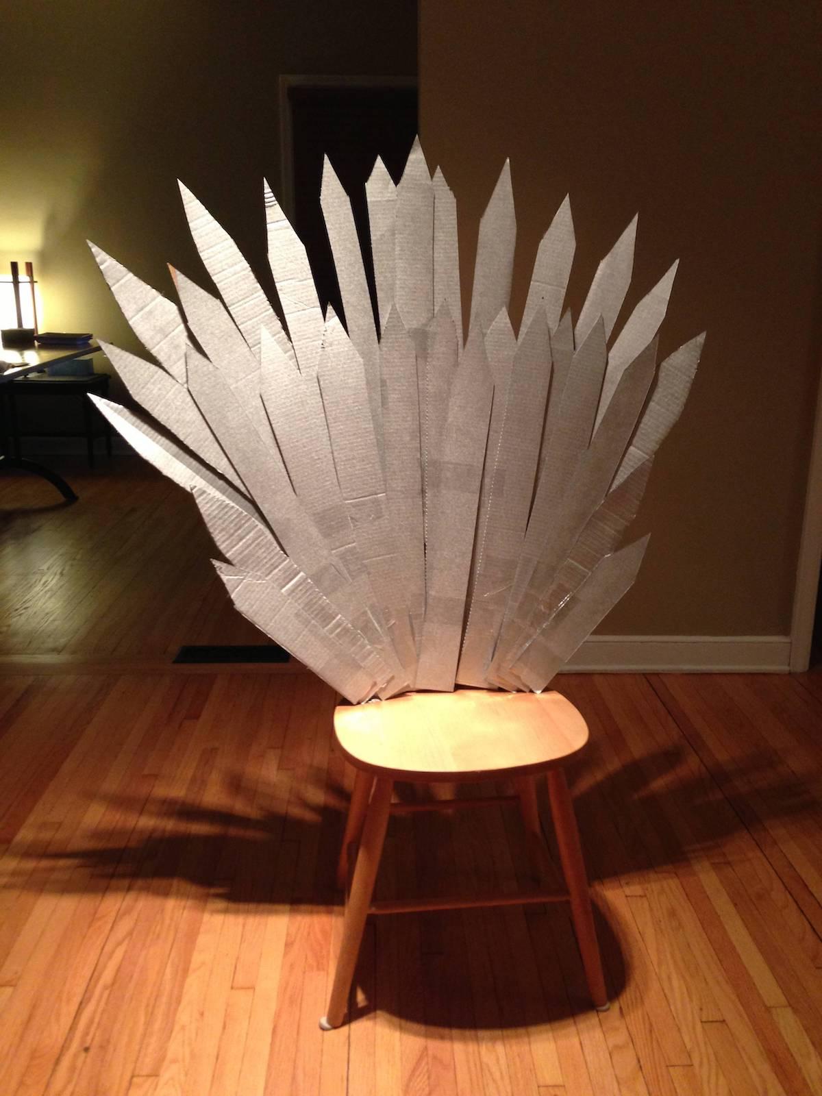 cardboard throne