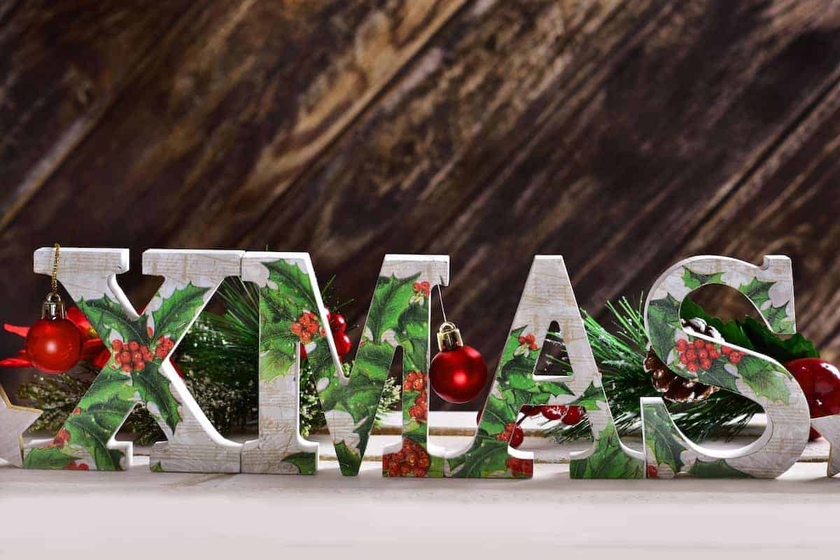 decorated christmas letters