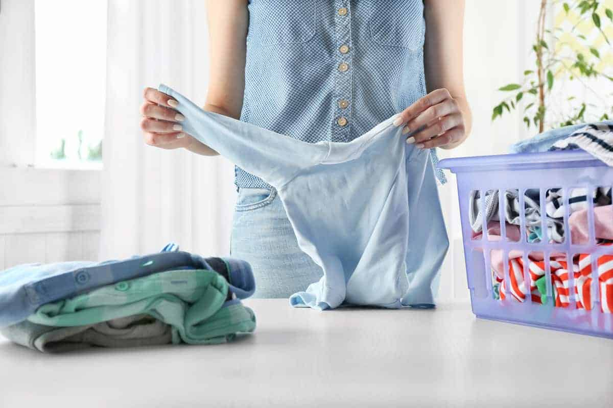 folding laundry