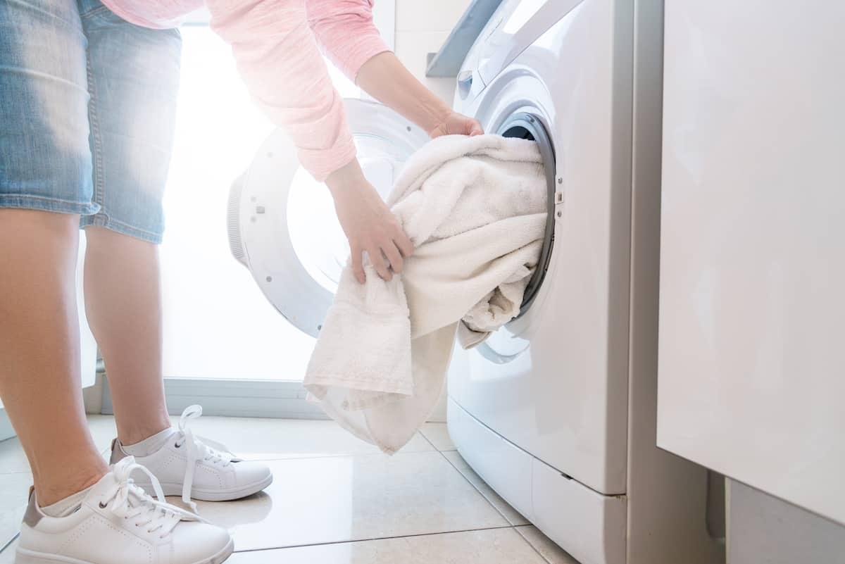 towel in dryer