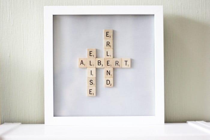 framed crossword puzzle