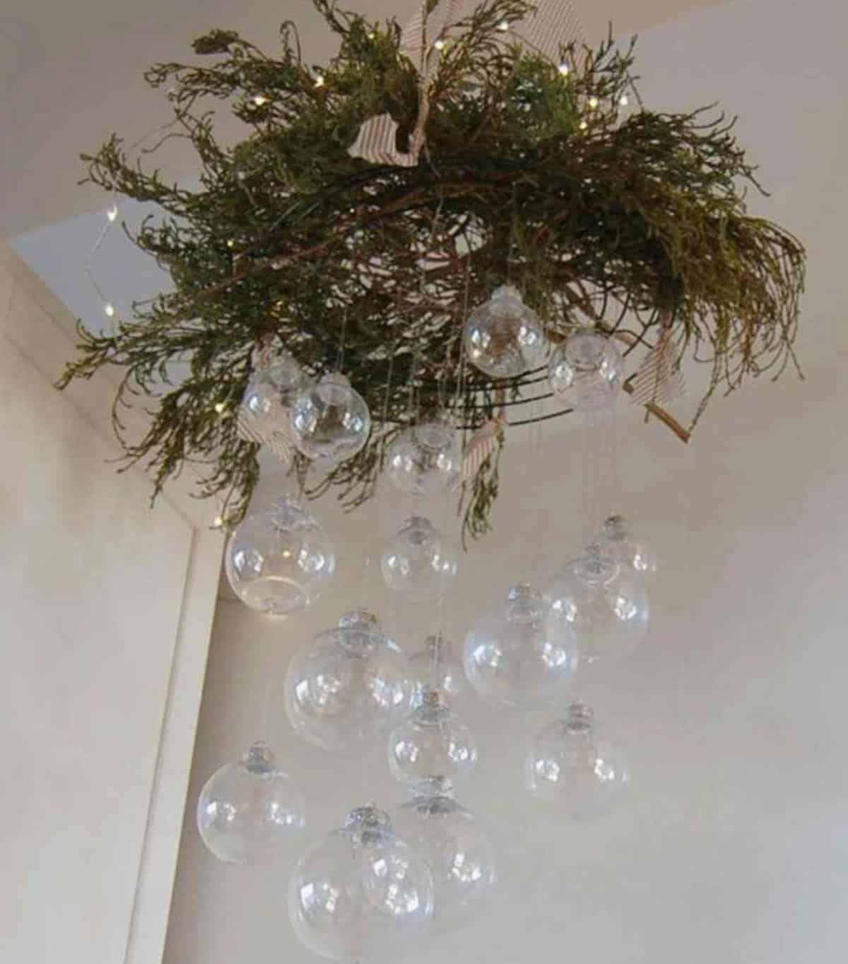 hanging ornament chandelier