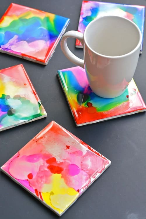 dyed coasters