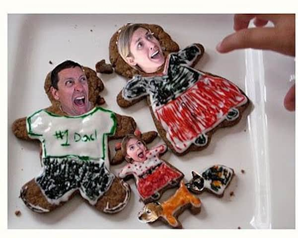Family photos made into cookies