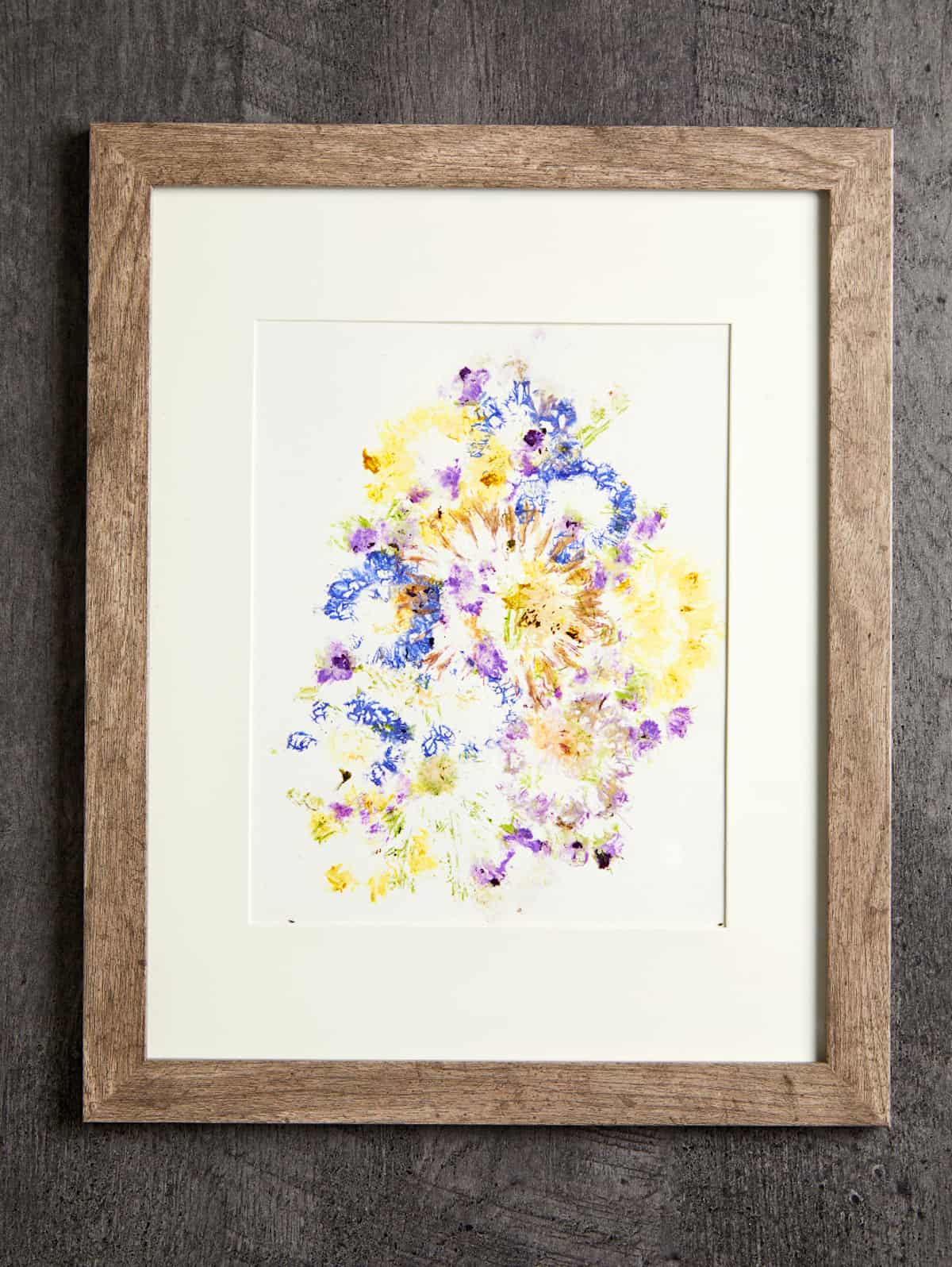 hammered flower petal art