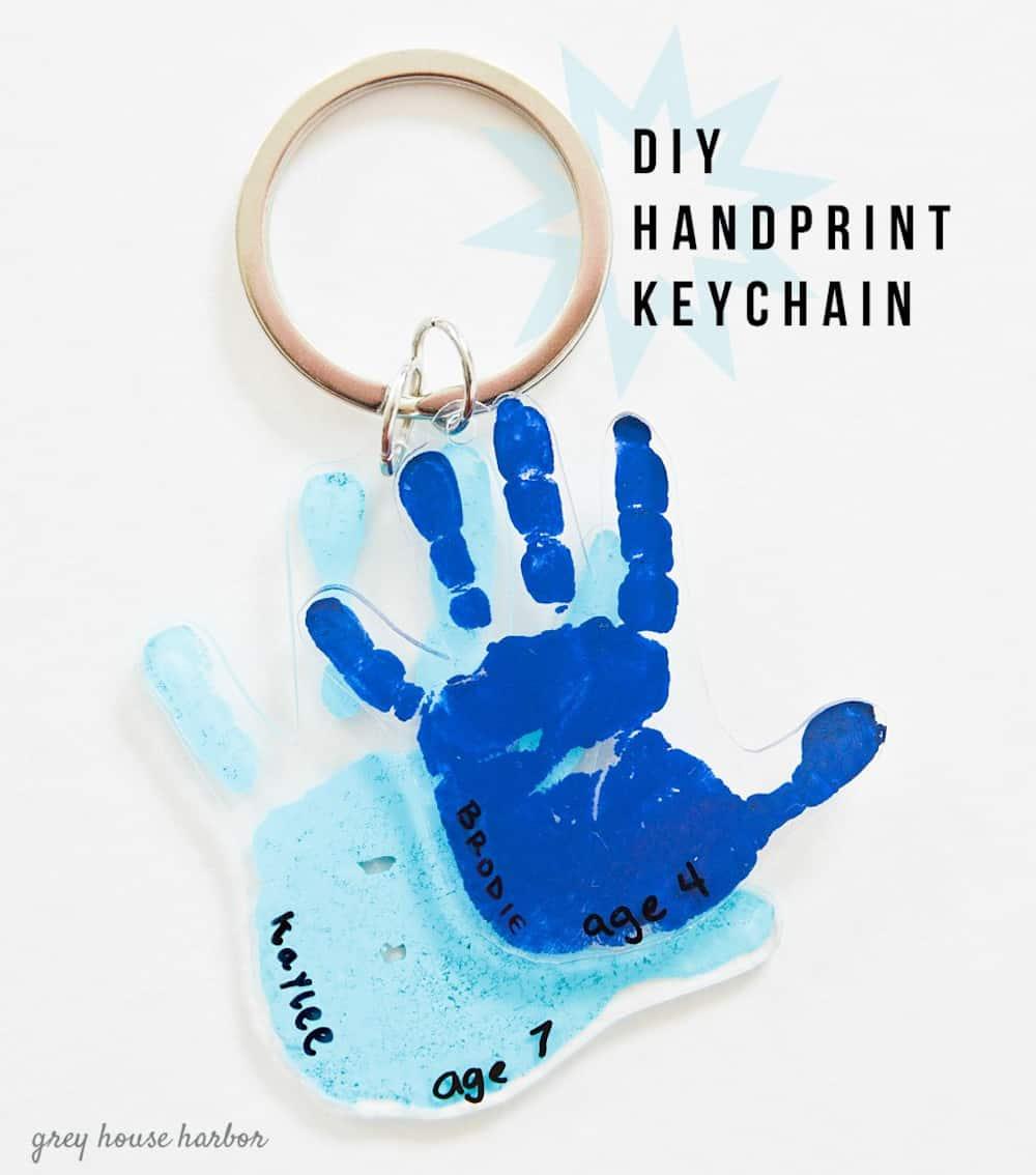 Hand print key chain