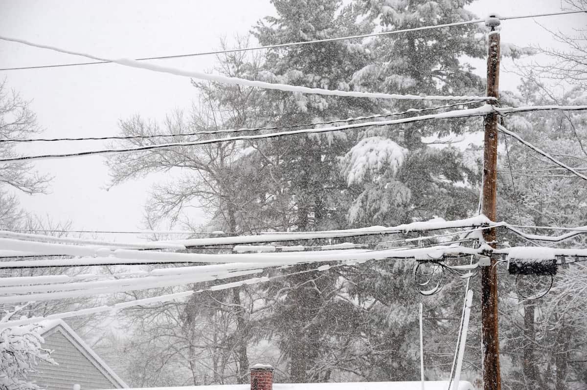 powerlines in snow