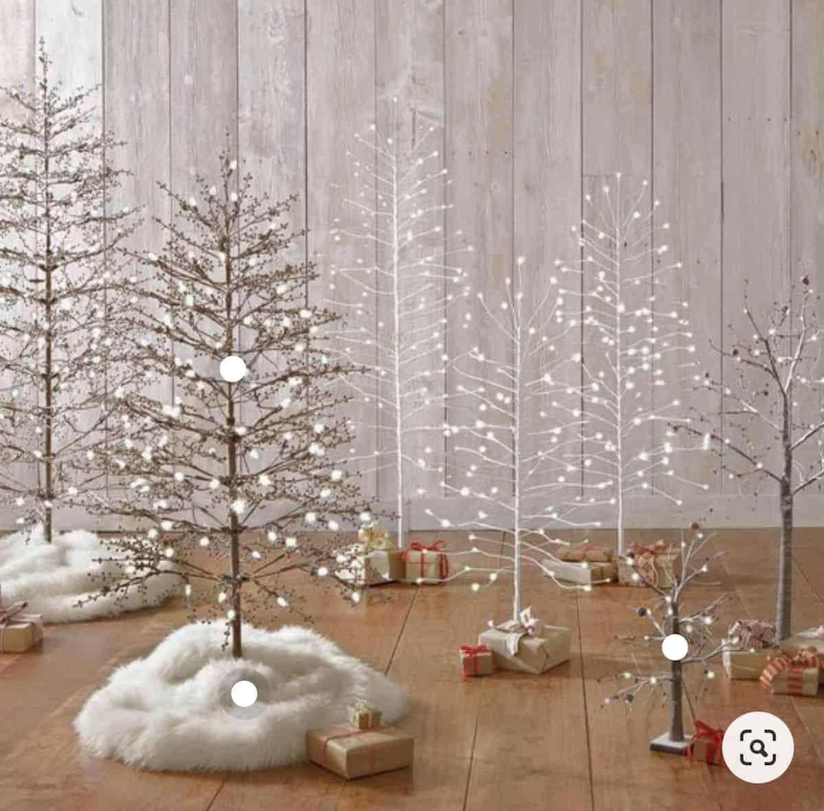 twinkle light christmas trees