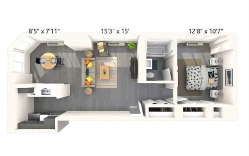 Decorating Ideas In A 700 Square Foot Apartment Rent Com Blog
