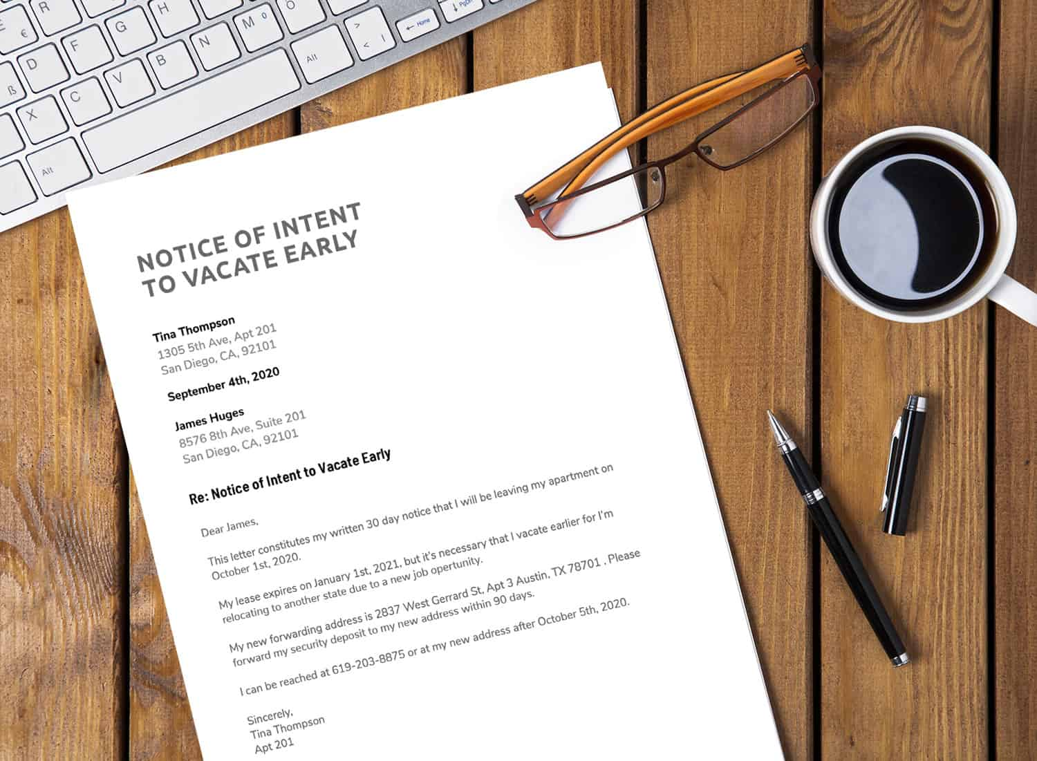 Tips for Writing a Lease Termination Letter + Free Printable ...