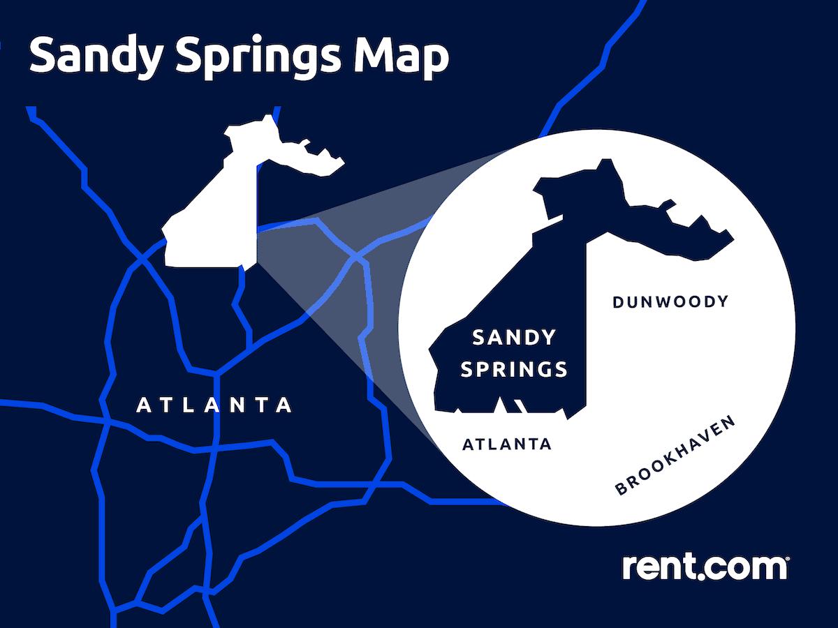 sandy springs map