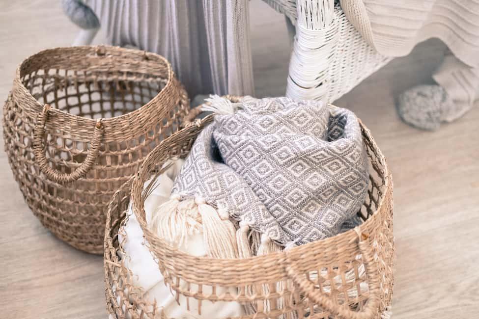 blanket baskets small patio ideas