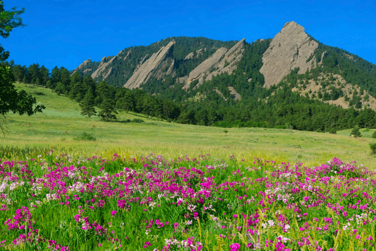 Mountains in Boulder, CO, one of the best places to live in colorado