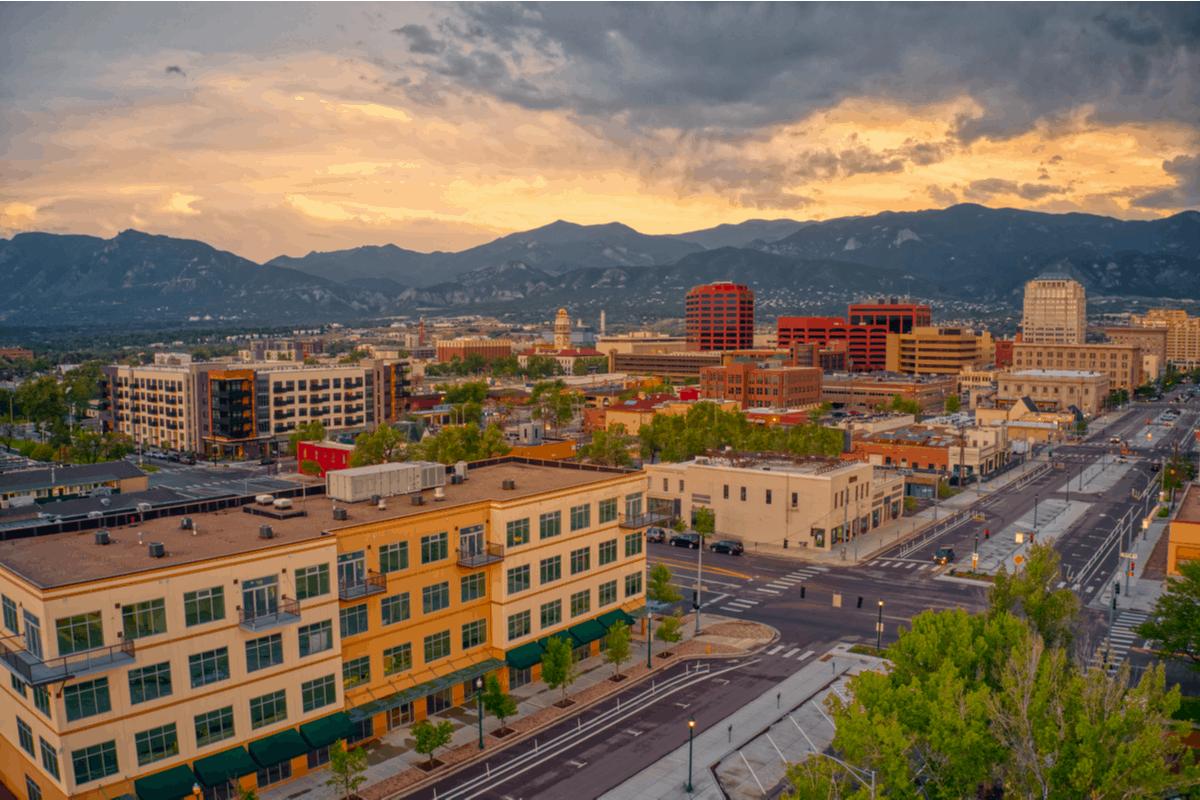 Downtown Colorado Springs.
