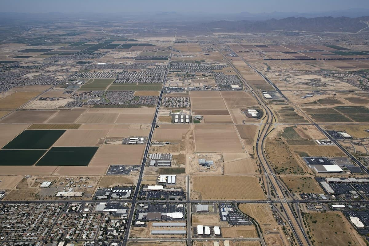 Goodyear, AZ, one of the least crowded cities in us