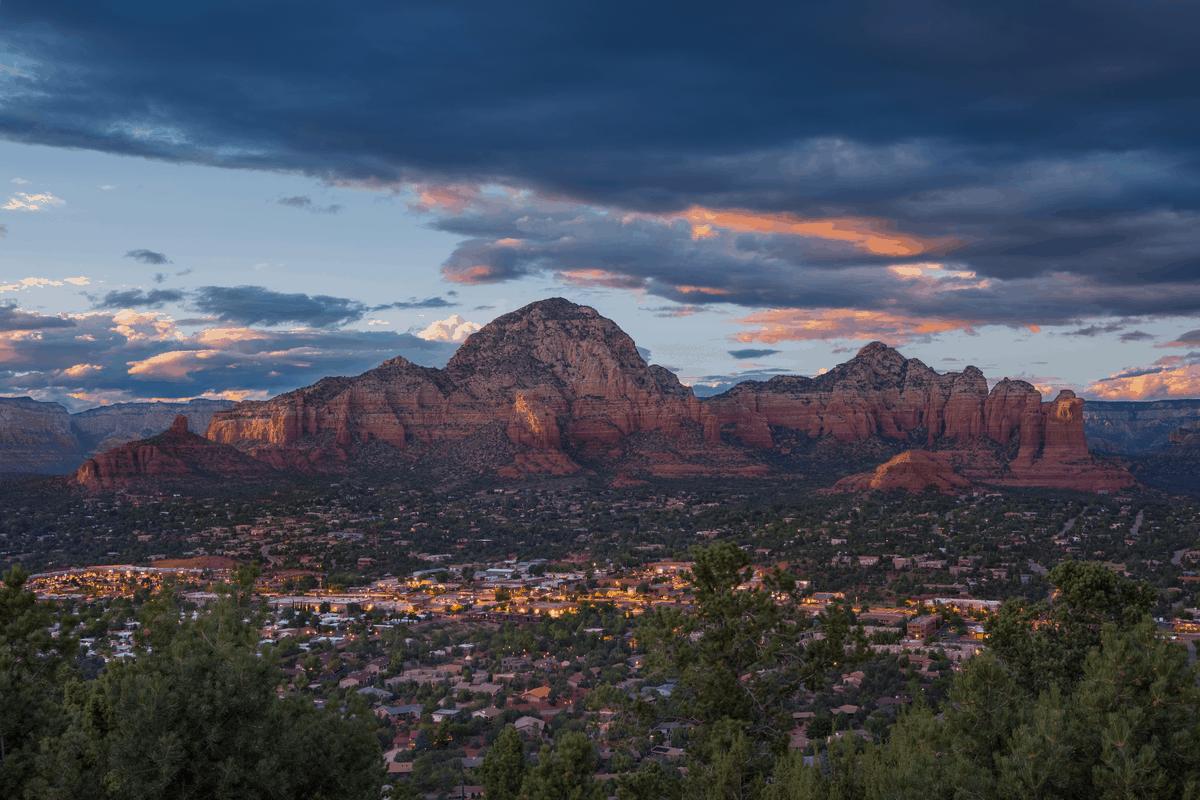 Mesa, AZ mountains and city life.