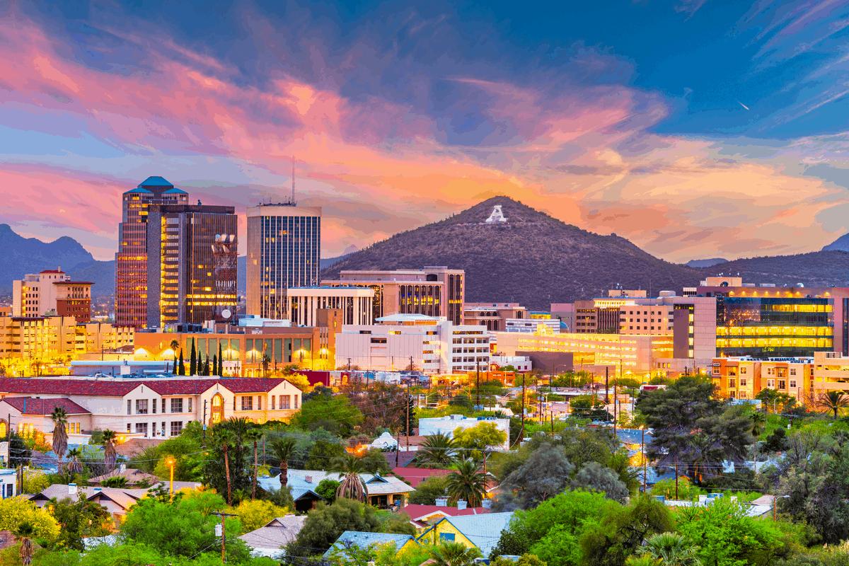 Tucson, AZ — evening.