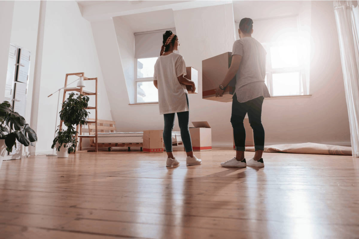 Tenants moving into a new space.