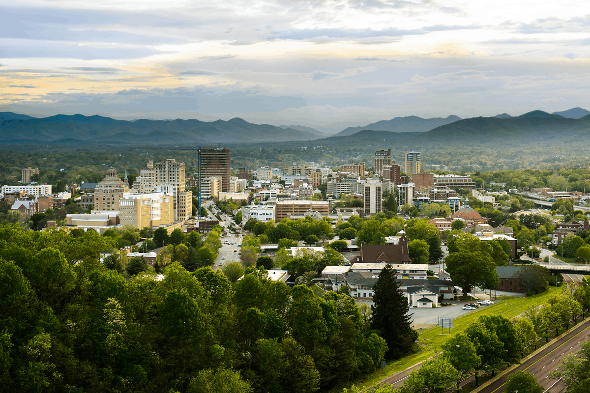 Asheville, one of the cheapest places to live in North Carolina