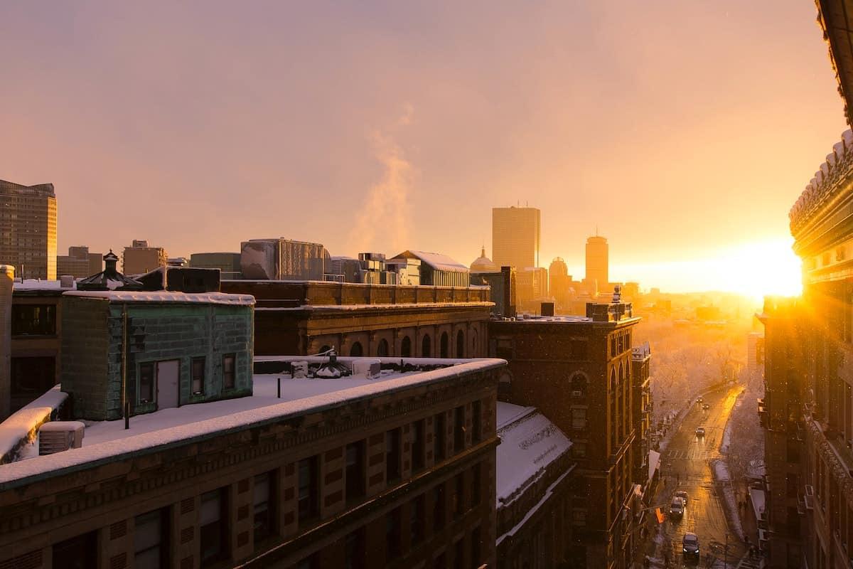 Boston sunrise.
