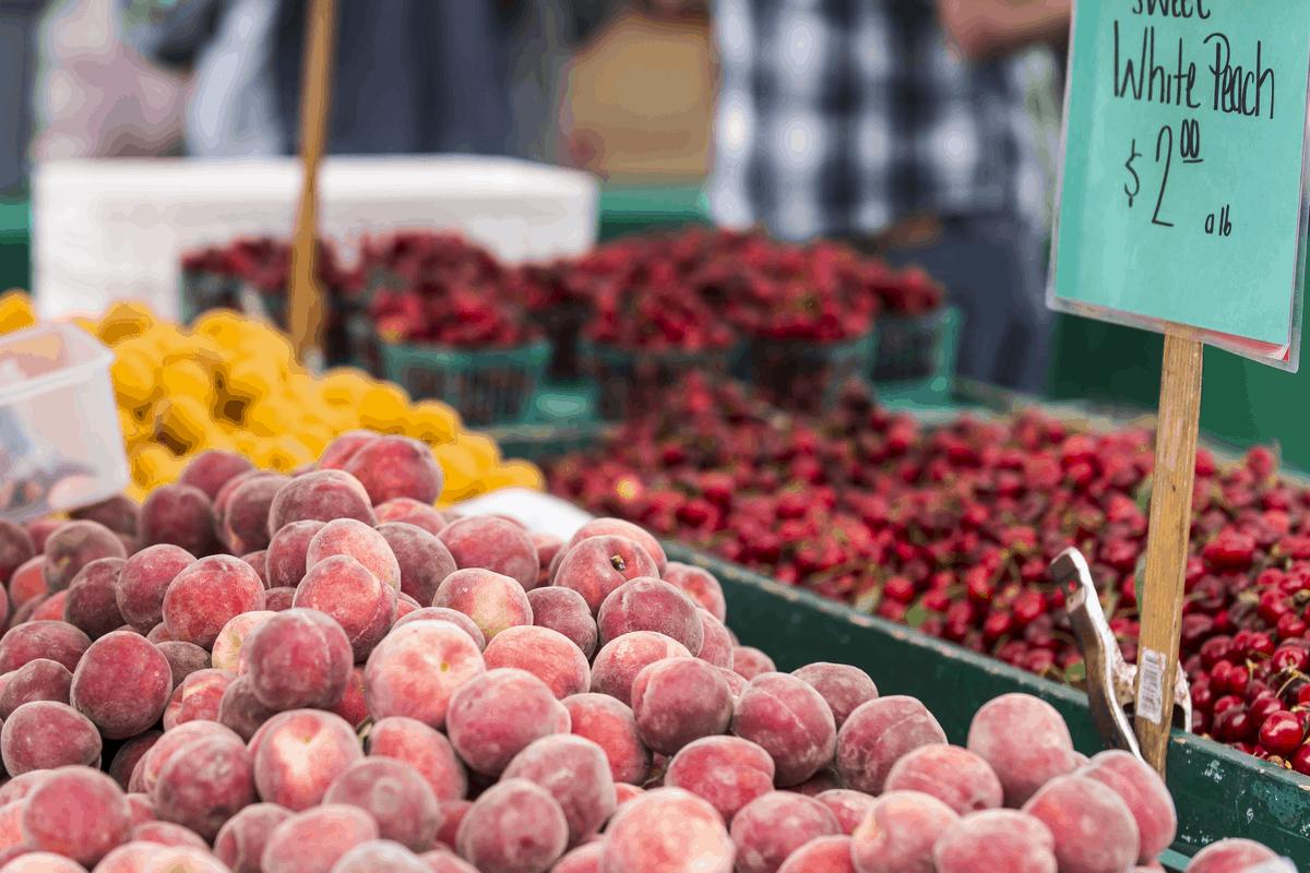 Farmers market in San Francisco.