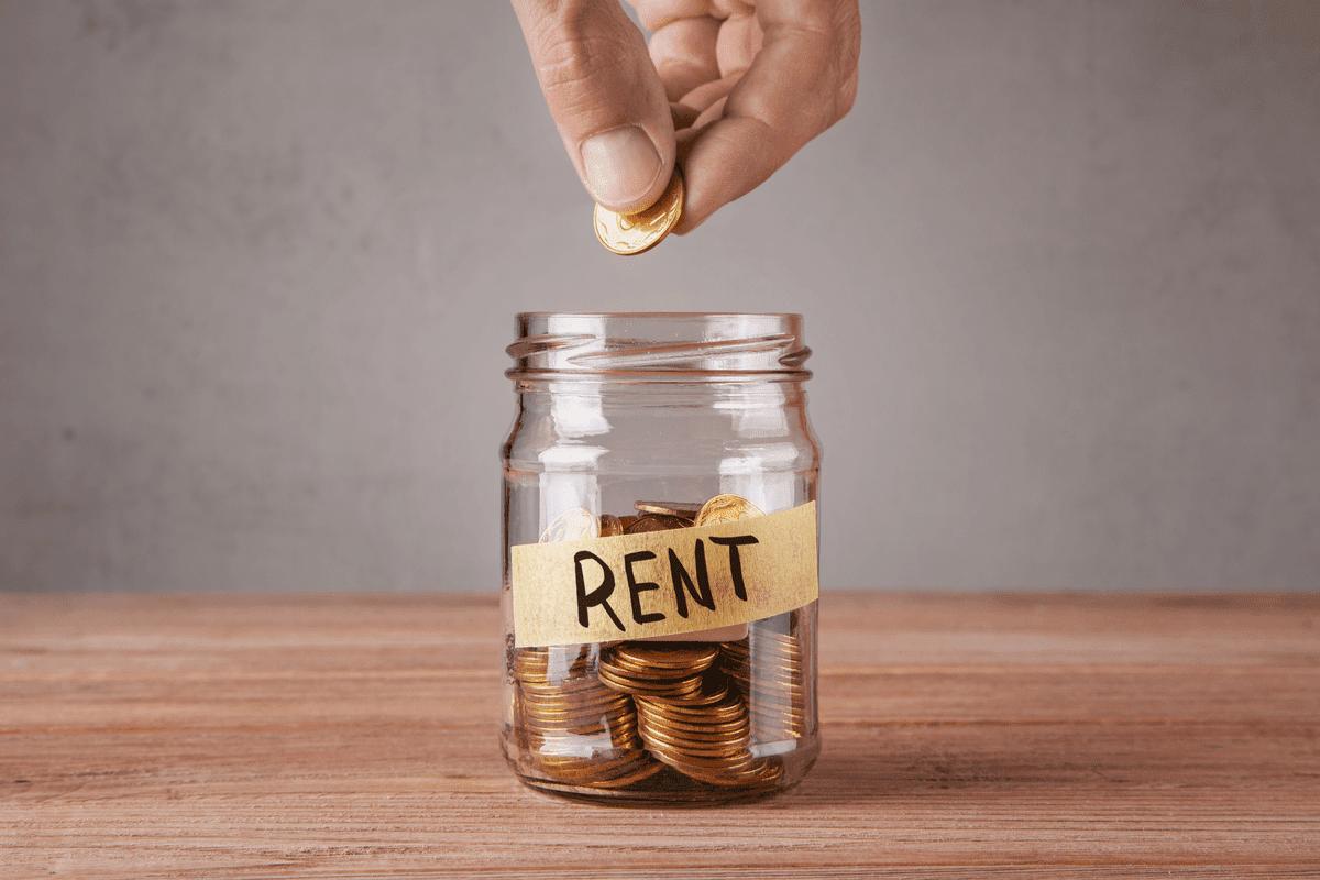 Rent money in a jar.