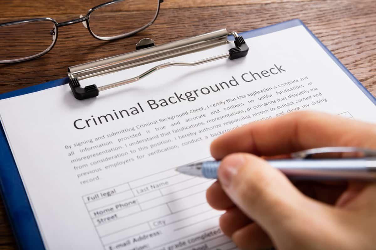 Criminal background check.