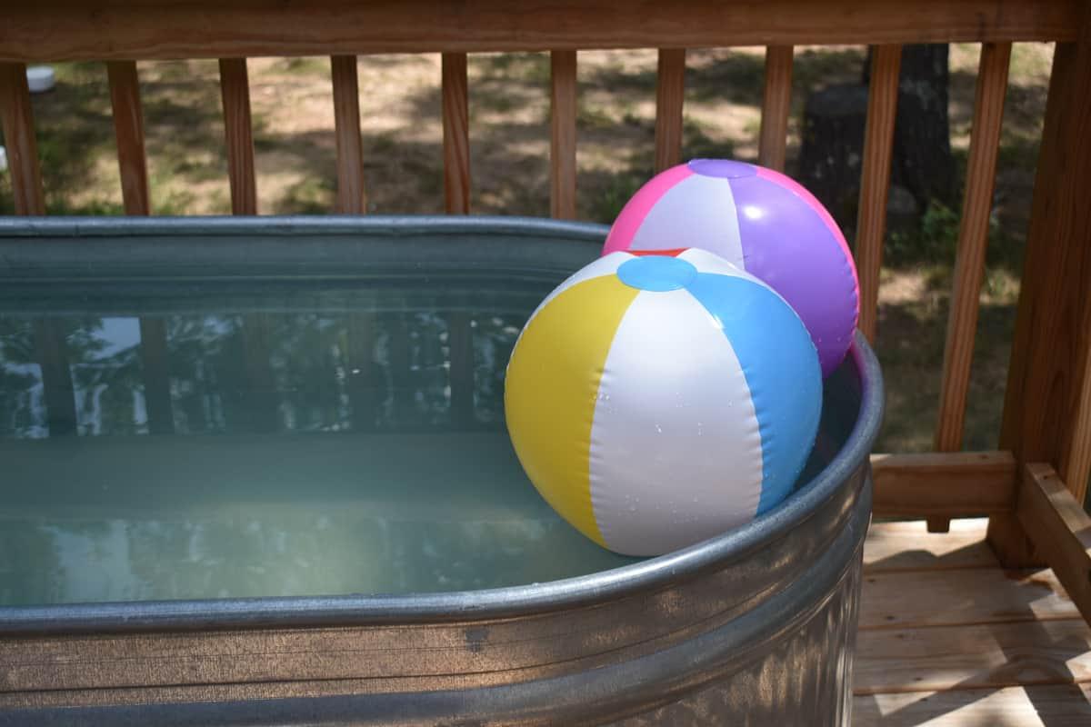Stock tank pool.